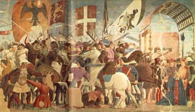 Piero della Francesca The Arezzo Cycle Battle between Heraclius and Chosroes detail [04]