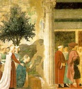 Piero della Francesca The Arezzo Cycle Adoration of the Holy Wood and the Meeting of Solomon and the Queen of Sheba