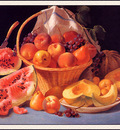 bs ahp John F Francis Still Life With Melons Peaches Grapes
