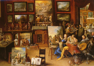 francken frans the younger 1581 to 1642 pictura, poesis and musica in a pronkkamer snd 1636 o p
