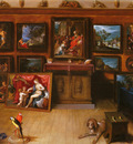 Francken Frans the Younger 1581 to 1642 A Picture Gallery With A Man Of Science Making Measuremen