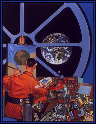 Freas Frank Kelly AHSI06 Space Artist D50