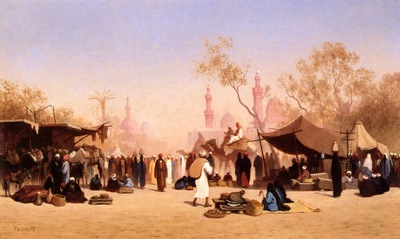 Frere, Charles Theodore A Marketplace in Cairo end