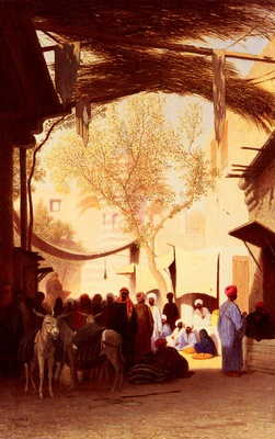 Frere Charles Theodore A Market Place, Cairo