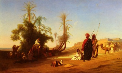 Frere Charles Theodore Halte A L Oasis