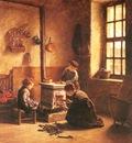 Frere Pierre Edouard Lighting The Stove