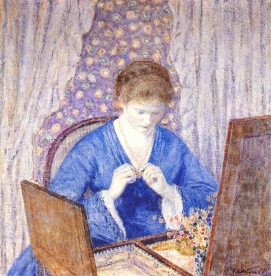 frieseke girl in blue c1917