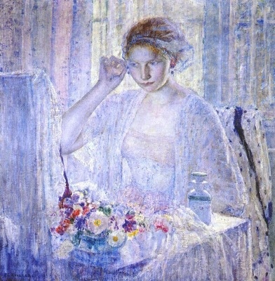 frieseke girl with earrings c1917