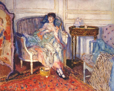frieseke in the boudoir c1914