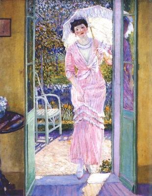 frieseke in the doorway good morning c1913