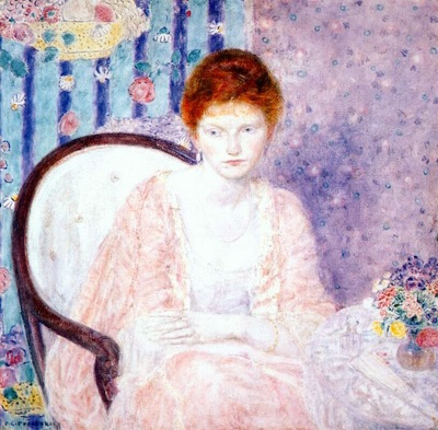 frieseke lady in rose c1910