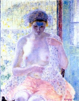 frieseke nude in the window