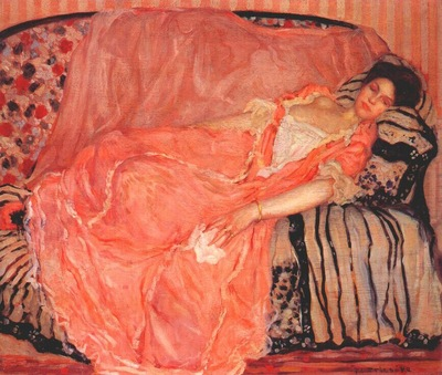 frieseke portrait of madame gely no 1 on the couch c1907