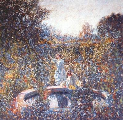 frieseke the blue garden c1912