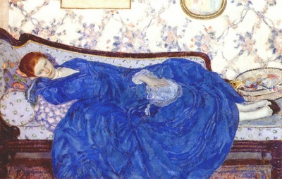frieseke the blue gown c1917