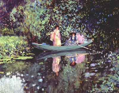 frieseke two ladies in a boat c1905