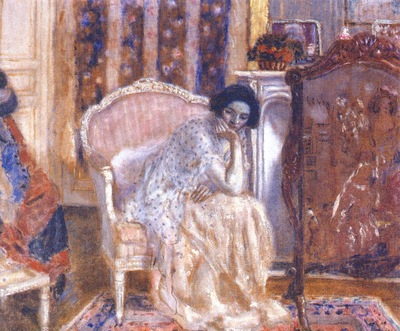frieseke woman in boudoir c1914
