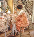 frieseke before her appearance la toilette