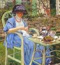 frieseke breakfast in the garden c1911