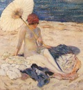 frieseke nude on beach c1915