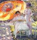 frieseke the garden parasol c1910