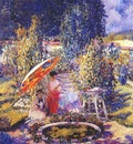 frieseke the garden umbrella c1910