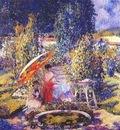frieseke the garden umbrella c1910