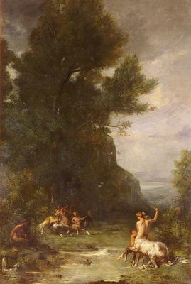 Fromentin Eugene Centaurs Et Centauresses S Exercant Au Tir De L Arc