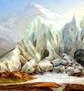 Fruhes Schweizer Schule Gletscher Landschaft