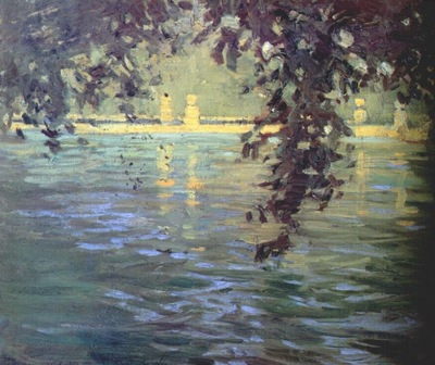fujishima takeji, pond, villa deste 1908