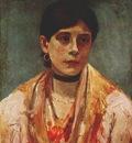 fujishima takeji, ciociara flower girl of ciociaria, italy 1908