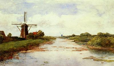 Gabriel Paul Joseph Constantine A Windmill Near Abscoude