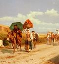 Gabrini Pietro Travellers In The Roman Campagna