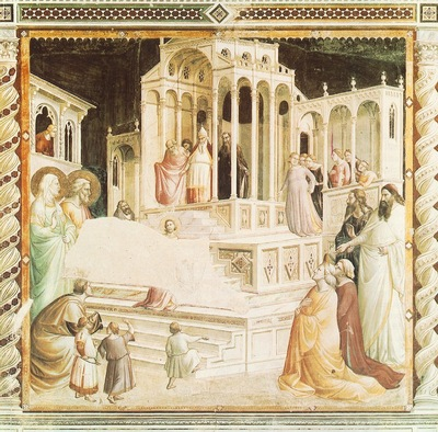 Gaddi,T  Presentation of Mary in the temple, 1327 30, Fresk,
