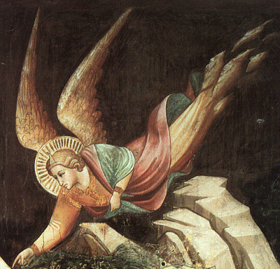 Gaddi Detail from The Dream of Heraclius, 1380, fresco, Sant
