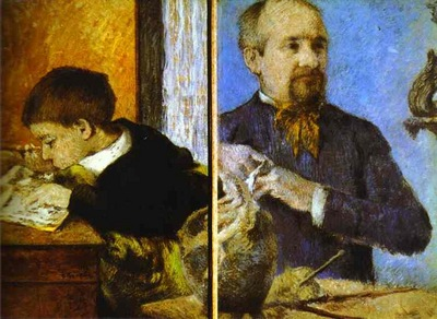 Gauguin Aube The Sculptor And His Son