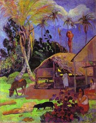 Gauguin Black Pigs