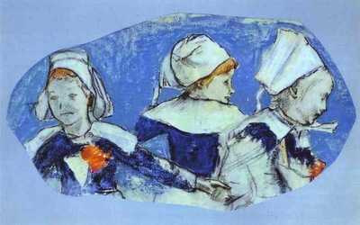 Gauguin Breton Girls Dancing