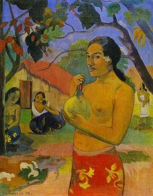 Gauguin Eu Haere Ia Oe Woman Holding A Fruit