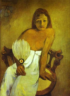 Gauguin Girl With A Fan