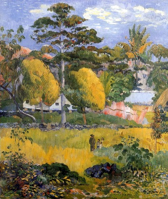 Gauguin Paul Family stroll Sun