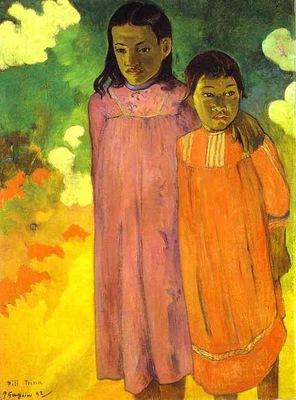Gauguin Piti Teina Two Sisters