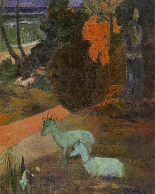 Gauguin Tarari Maruru Landscape With Two Goats