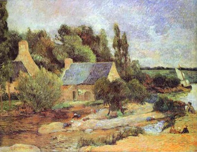 Gauguin Washerwomen At Pont Aven