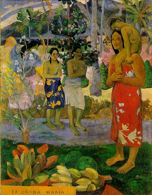 Gauguin We hail thee Mary, 1891, 113 7x87 7 cm, Metropolitan