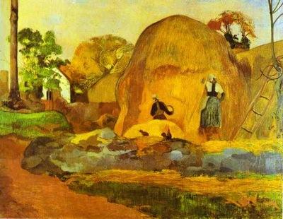 Gauguin Yellow Hay Ricks Fair Harvest