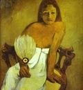 Gauguin Girl With A Fan