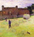 Gauguin Hay Making In Brittany