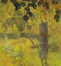 Gauguin Man Picking Fruit From A Tree