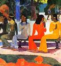 Gauguin Paul The market Sun